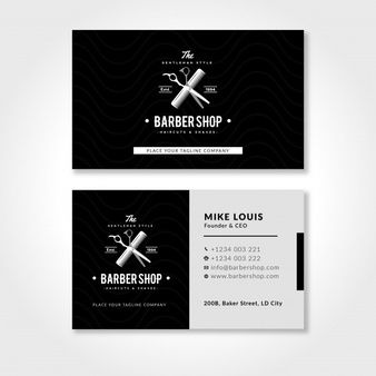 Barber Business Card Template With