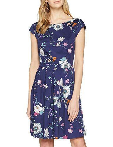 S Oliver Damen 05 903 82 2680 Kleid Blau Blue Aop 56a9 Herstellergrosse 40 Kleider Modestil Damen