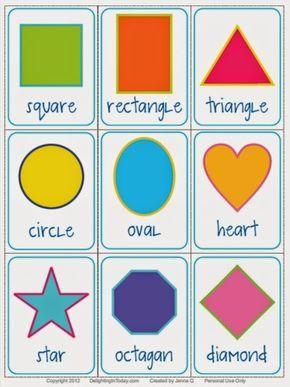 photo regarding Printable Shape Flash Cards titled Pin through Alexis Kestner upon Styles Designs flashcards