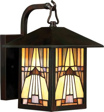 Art Deco Stained Gl Outdoor Wall