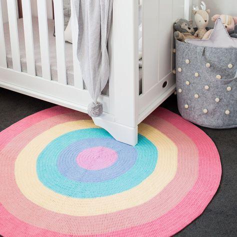 Rainbow Baby Round Rug Beautifully