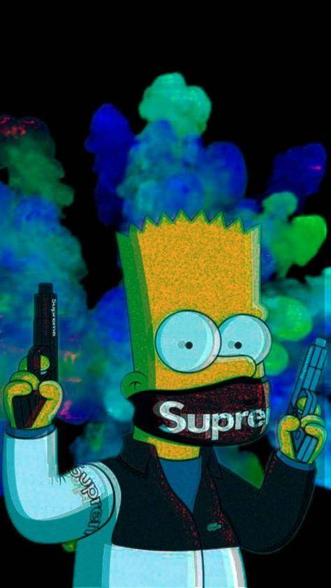 Supreme Bart Bart Simpson Art Simpson Wallpaper Iphone Simpsons Art