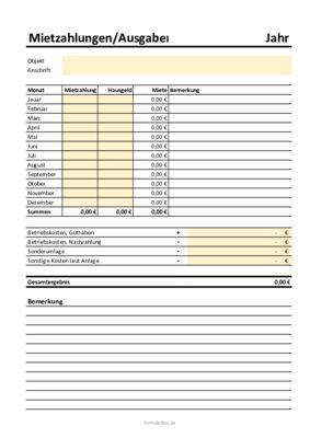 Excel Vorlage Etw Mieteinnhamen Und Ausgaben Sofort Download Xls Datei Hier Herunterladen In 2020 Excel Vorlage Wohnung Zu Vermieten Wohngeld
