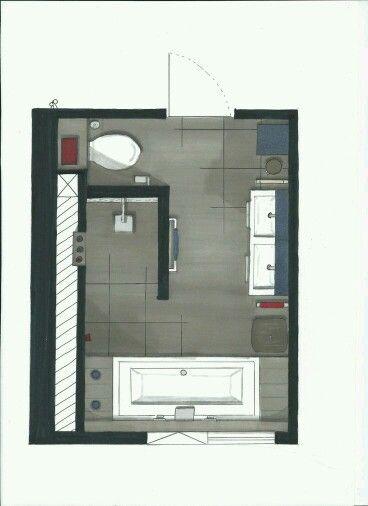 Großartig Badezimmer 8m2 Planen에 관한 상위 25개 이상의 Pinterest 아이디어 | Badezimmer 8m2,  Badezimmer 6m2 및 Badezimmer Grundriss
