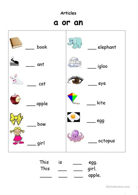 Indefinite articles (a/an)