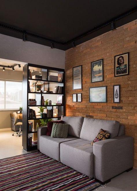Apartamento de 45 m² reflete o estilo urbano do jovem morador
