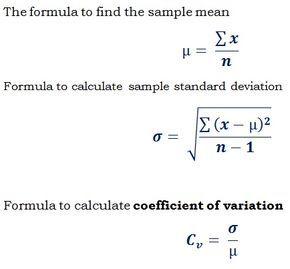 Formula Cv Standard Deviation Mean To Find Coefficient Of Variance Http Ncalculators Com Statistics Standard Deviation Statistics Math Maths Solutions