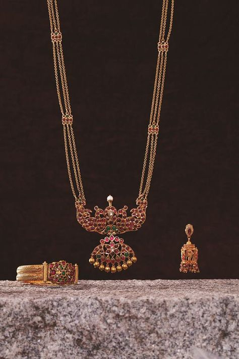 Indian Jewellery and Clothing: Ruby studded jewellery from Mehta Jewellers.