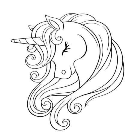 123rf Millions Of Creative Stock Photos Vectors Videos And Music Files For Your Inspiration And Unicorn Coloring Pages Unicorn Drawing Unicorn Illustration