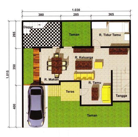 denah lantai 1 | house design, floor plans, design