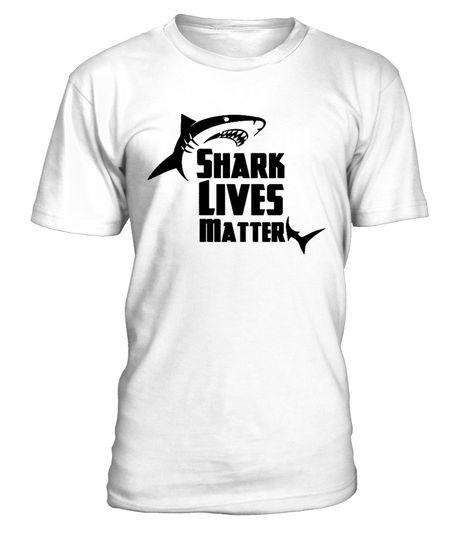 Shark Lives Matter T SHIRT BLACK