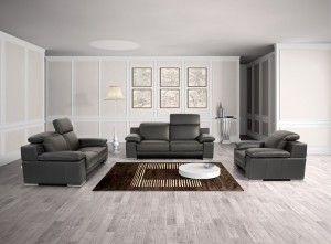 grey leather sofa sets decorating idea heimili og hnnun str og sm pinterest leather sofa set sofa set and leather sofas - Grey Leather Sofa Living Room Ideas