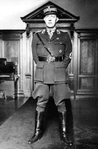 Wolf-Heinrich Graf von Helldorf (14 October 1896 – 15 August 1944) was a German police official and politician, who served as a Member of the Prussian Parliament during the Weimar Republic, as a Member of the German Parliament for the Nazi Party from 1933 and as president of police in Potsdam and Berlin. From 1938, he became associated with the anti-Nazi resistance, and was executed in 1944 for his role in the 20th July plot to overthrow Hitler's regime.