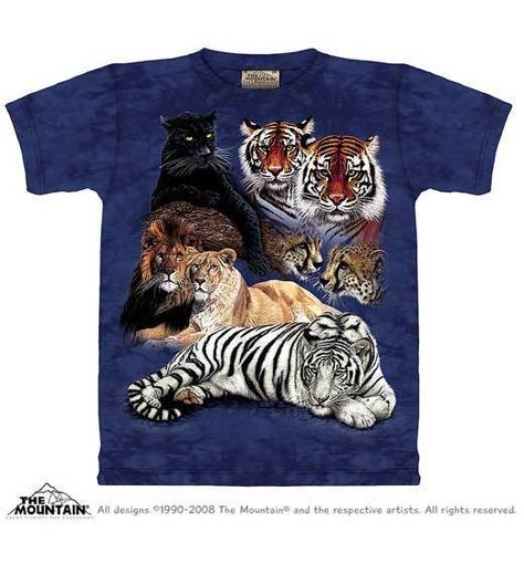 """BIG CATS /""""CAT/'S HOME/"""" CHILD T-SHIRT THE MOUNTAIN BABYWILD"""