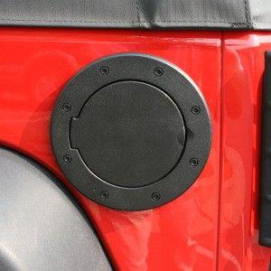 Non Locking Gas Cap Door Black 07 16 Jeep Wrangler Jk Jeep
