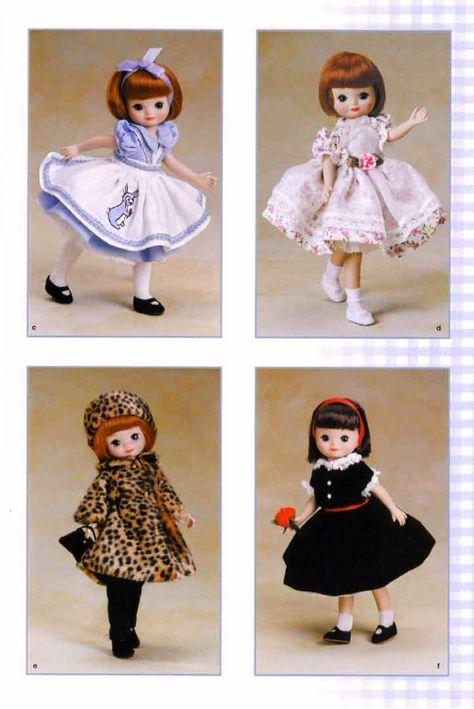 "Vtg Doll Clothes Dress Pattern 9/"" 10/"" Lingerie Lou Ann Estelle Tiny Terri Lee"