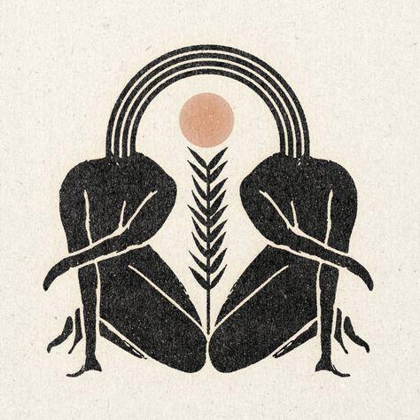 Great illustration for feminine logo design and female centered health and lifestyle business. Kunst Inspo, Art Inspo, Foto Logo, Photographie Portrait Inspiration, Wow Art, Linocut Prints, Figure Drawing, Printmaking, Art Drawings