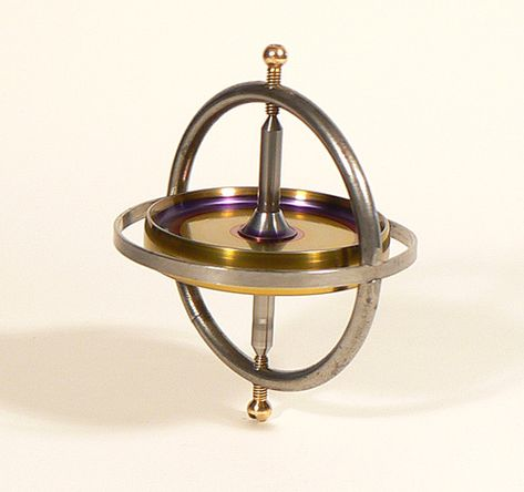 Golden Metal Gyroscope Accurate Mini Spinning Top Alloy Balance Performance Toys