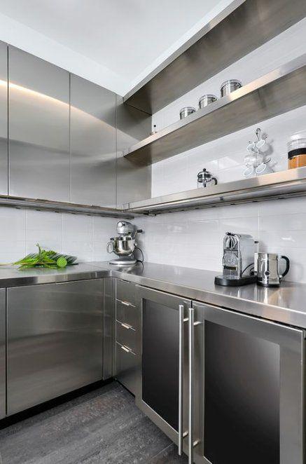 44 Trendy Kitchen Design Modern Ideas Stainless Steel Stainless Steel Kitchen Cabinets Kitchen Interior Modern Kitchen Design