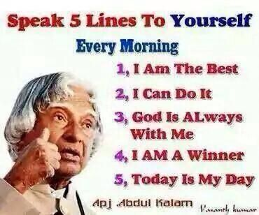 @LIFE @Inspire_Us @PG_Guides pep up yourself with positive self-talk every morning. #success