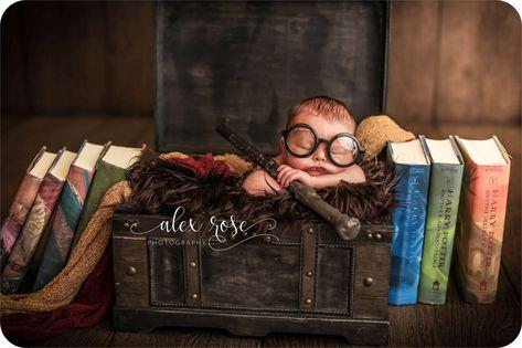 Harry Potter Newborn Photography, Harry Potter prop set up, newborn photographer - #harry #newborn #photographer #photography #potter #prop #Set