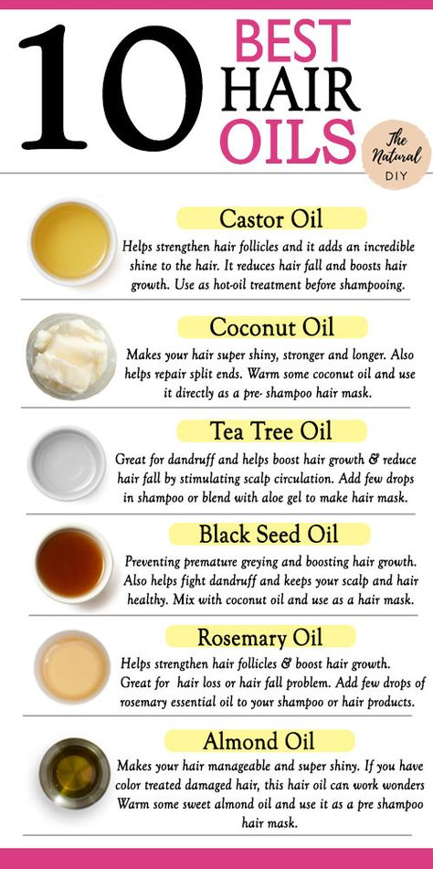 10 BEST HAIR OILS- For All Hair Problems - The Natural DIY
