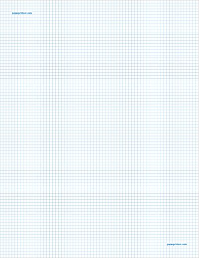 This legal-sized graph paper has two aqua blue lines every inch - graph paper template print