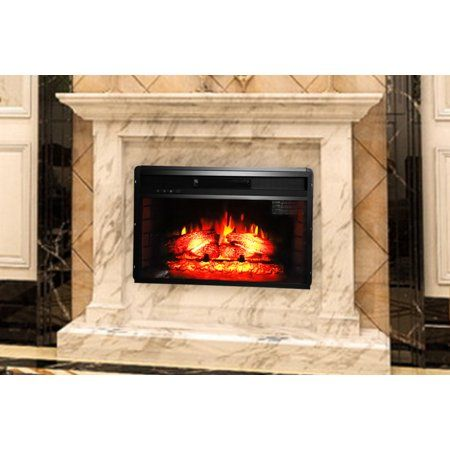 Ktaxon 26 Embedded Fireplace Electric Insert Heater Glass View Log Flame Remote Home Loghomes Log Homes Fireplace Heat Home