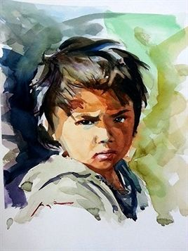 Pin By Gini Stewart On Watercolors Portrait Art Watercolor