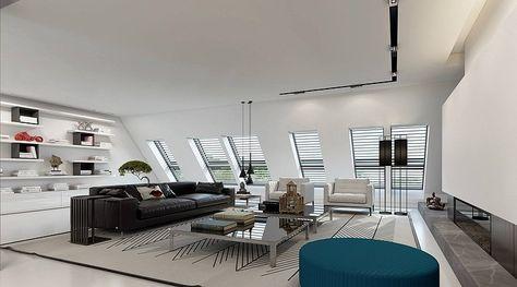 umbau einer dachgeschosswohnung in ein penthouse inkl. fitness und, Innenarchitektur ideen