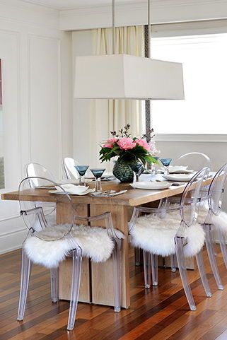 As Seen In Style At Home Magazine Ghost Chair Dining Room