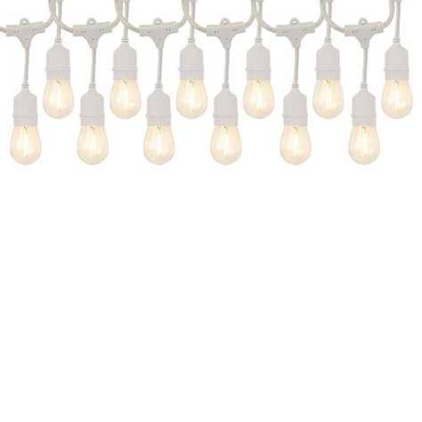 This commercial grade Edison style string light is wet rated, ideal for any indoor or outdoor application. Heavy duty construction and plastic shatter resistant bulbs lend themselves to use in any season for year round enjoyment. This light provides a warm white light, perfect for any of your outdoor entertaining areas.