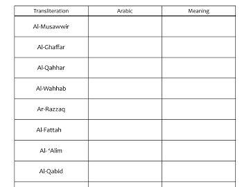 99 Names Of Allah Asma Ul Husna Shared Google Drive Islamic