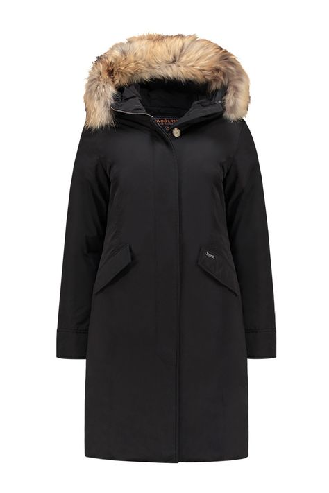 best value ccd56 a8c7e Woolrich Womens Luxury Long Parka Black - WWCPS2521 SM20 100 ...