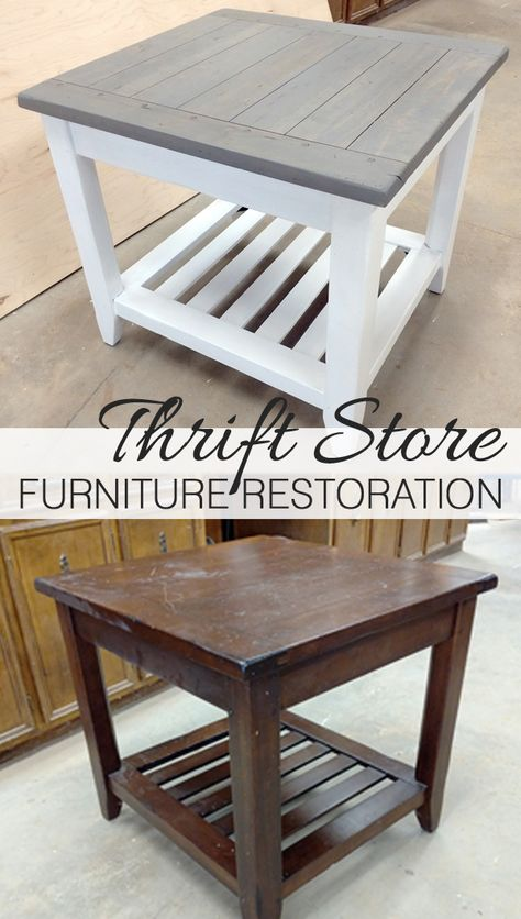 Thrift Store Furniture Restoration Refinishing Furniture Before and After How To Paint Furniture DIY Milk Paint Furniture Milk Paint Furniture, Thrift Store Furniture, Diy Furniture Projects, Refurbished Furniture, Farmhouse Furniture, Repurposed Furniture, New Furniture, Painted Furniture, Furniture Design
