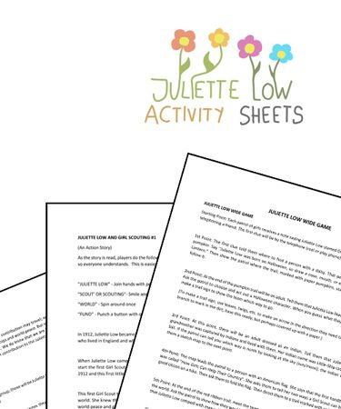 Juliette Low Activity Sheets Free Printable Activities Activity