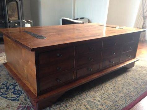 Laura Ashley Garrat 12 Drawer Coffee Table For Sale