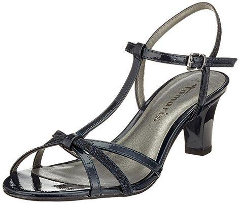 Tamaris Schuhe Sommer Absatz schwarz