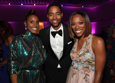 (L-R) Issa Rae, Jay Ellis, and Yvonne Orji attend 49th NAACP Image Awards After Party at Pasadena Civic Auditorium on January 15, 2018 in Pasadena, California. - 6 of 34