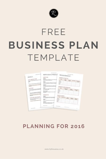 A Business Plan for 2016 Free business plan, Business planning - business plan free template word