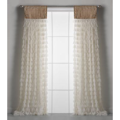 Semi Sheer Rod Pocket Single Curtain