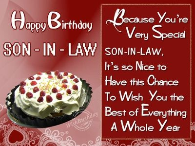 Happy Birthday Son In Law Quotes Give Your Best Wishes To Him Enkiquotes Happy Birthday Son Happy Birthday Son Images Birthday Wishes For Son