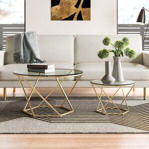 Bergeron 2 Piece Coffee Table Set Reviews Allmodern In 2020 Coffee Table Coffee Table Setting Table