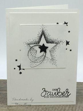 Wunderschone Handgefertigte Weihnachtskarte In Der Grosse 10 5 X