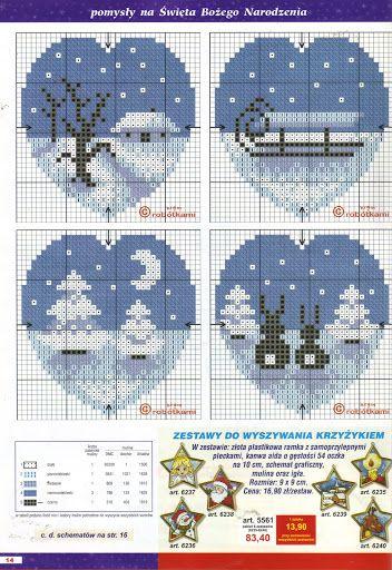 Winter Feeding Station Cross Stitch Chart