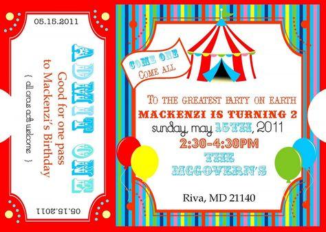 Free Printable Carnival Ticket Invitations Loganu0027s 1st birthday - free ticket invitation template