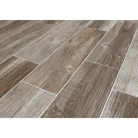 Style Selections Woods French Gray 6 In X 24 In Glazed Porcelain Wood Look Tile Lowes Com Wood Look Tile French Country Decorating Grey Wood Tile