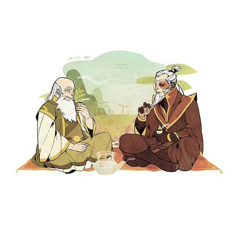 Uncle Iroh and Zuko in his old age