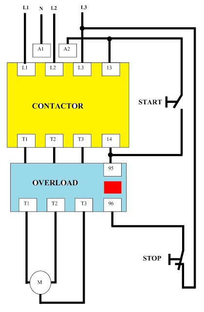 Direct On Line Dol Wiring Diagram For 3 Phase With 110 230vac