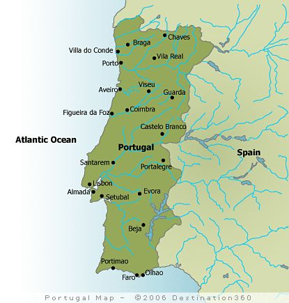 Map Of Portugal With Cities Google Search MAPS Pinterest - Portugal map coimbra